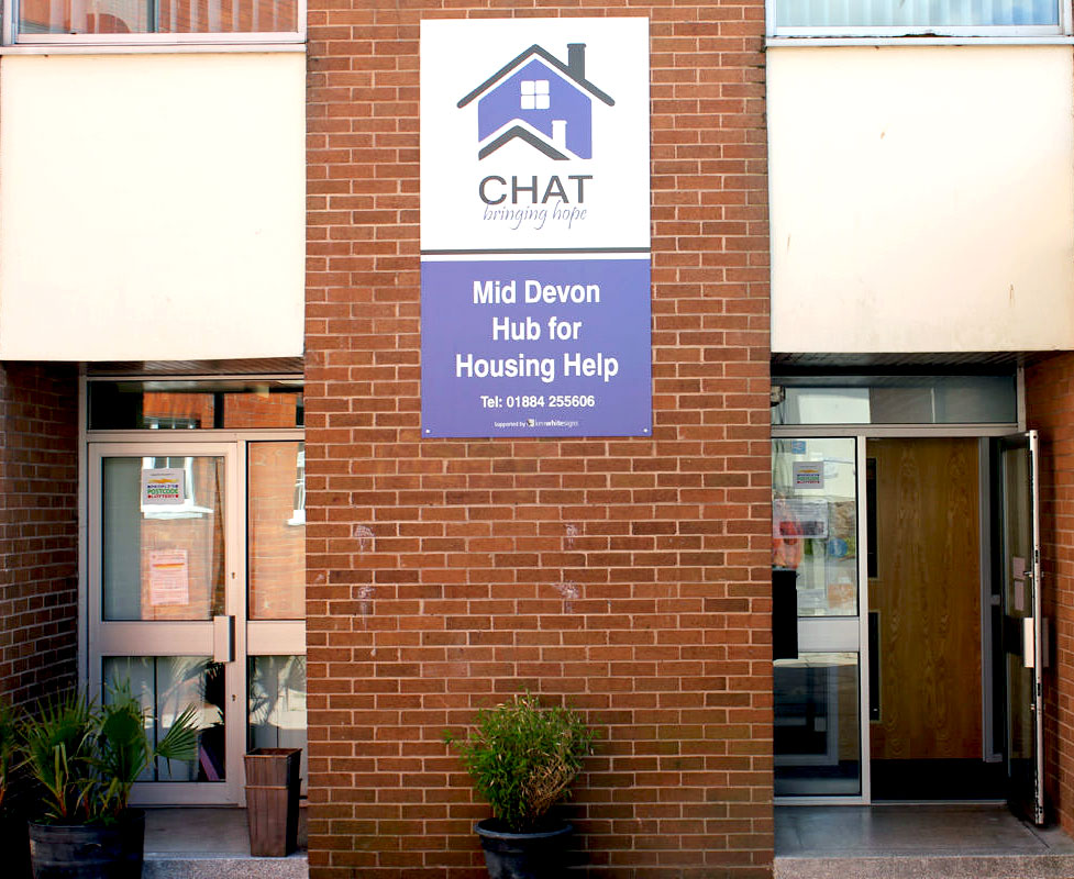 CHAT Devon centre entrance