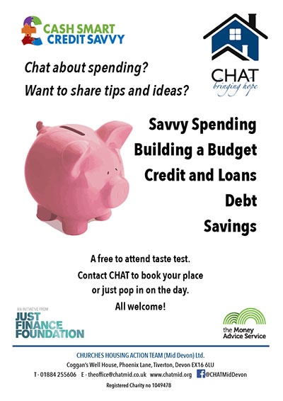 CHAT cash smart credit savvy poster