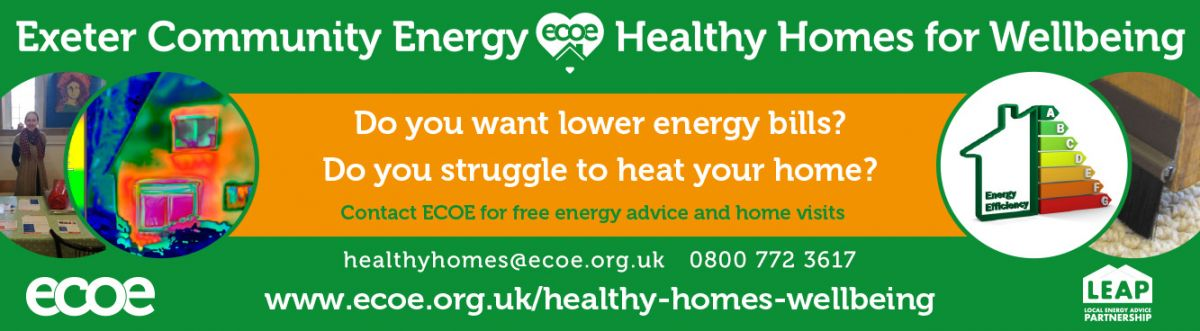 Exeter Community Energy advice banner